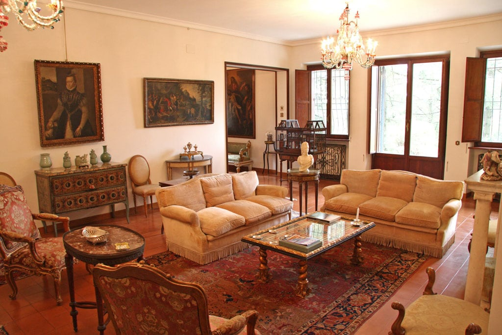 The luxurious living room