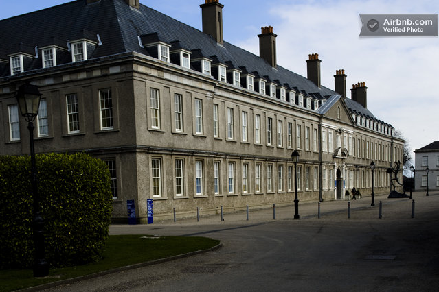 IMMA -- the Irish Museum of Modern Art -- is in this old military hospital, just around the corner.