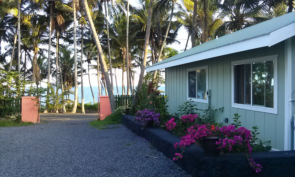 Side view from our The Whale House @ Kehena Beach