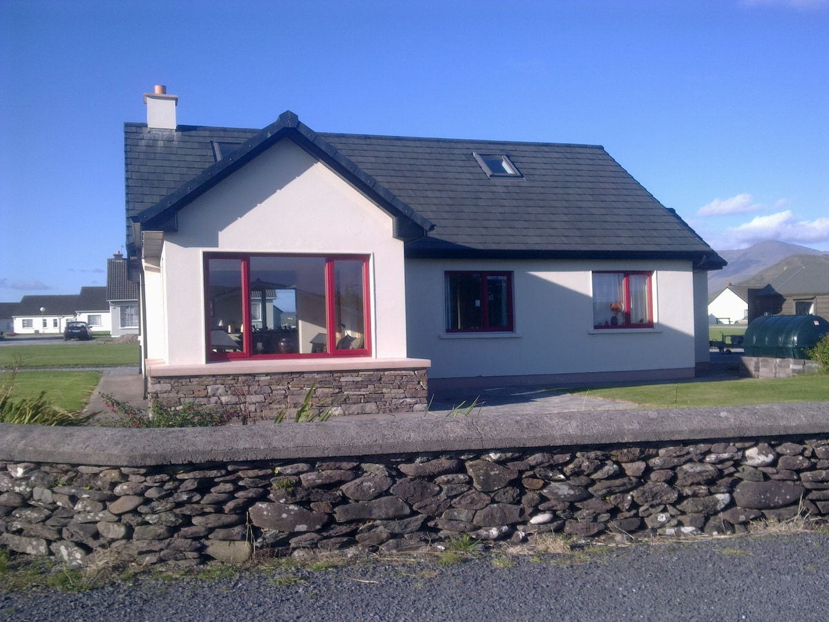 Front of property on a sunny day with a view Mount Brandon..........absolute heaven