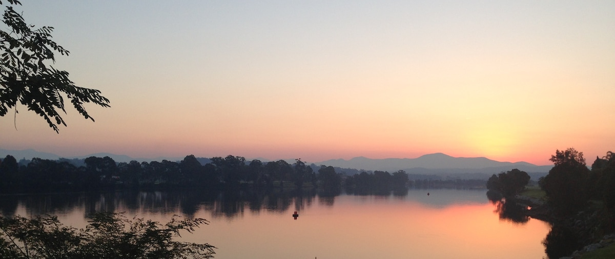 Moruya river at sunset