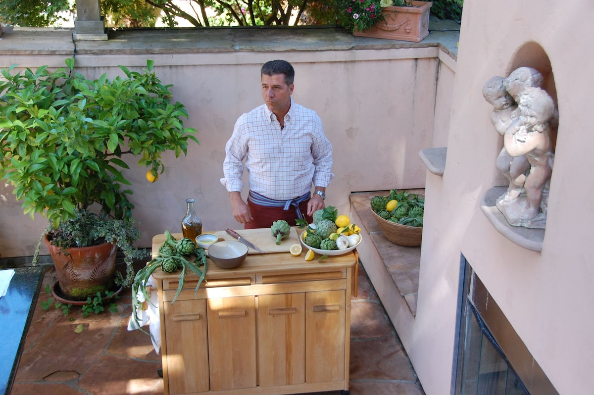 """Food & Wine magazine shoots """"Italian Lunch in a Sonoma Vineyard"""" at the Estate."""