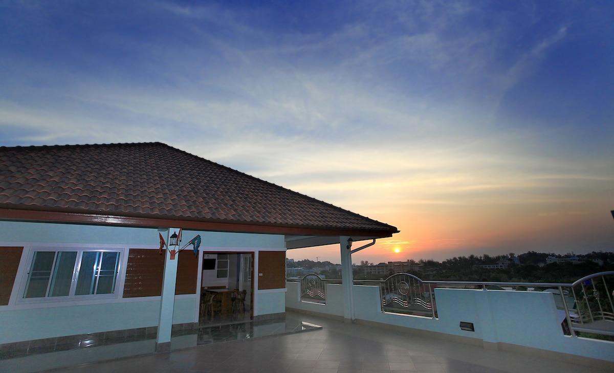 terrace of twobed room suite