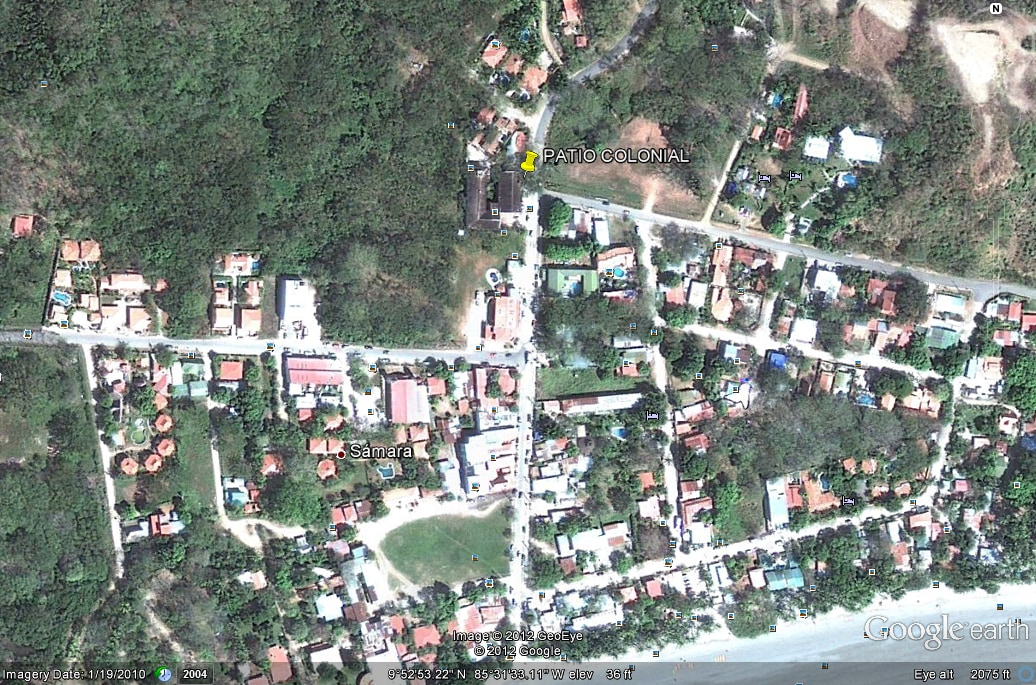 Location of our  apartment, centre of town, 200 m. to beach