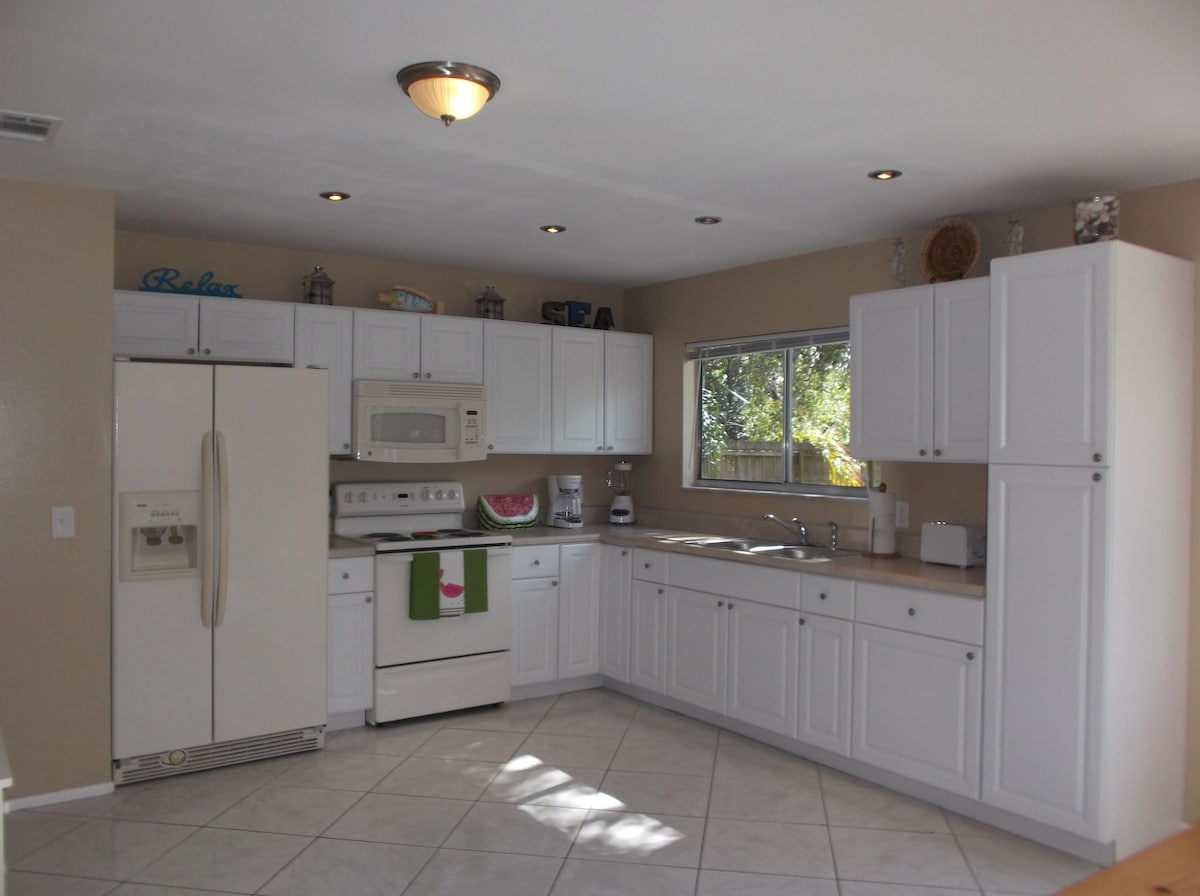 Large kitchen to prepare simple to intricate meals during your vacation.