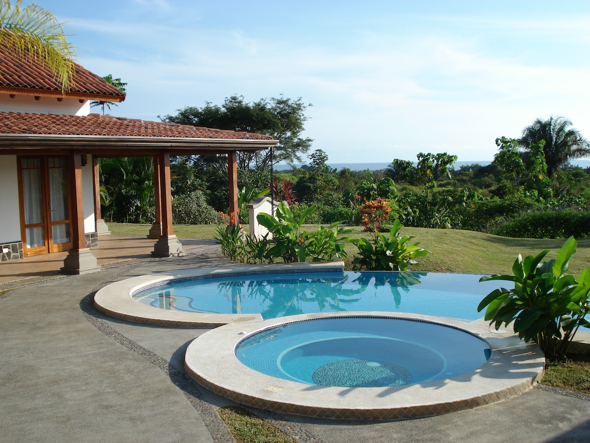 View of Pool, Jacuzzi, and Pacific Ocean
