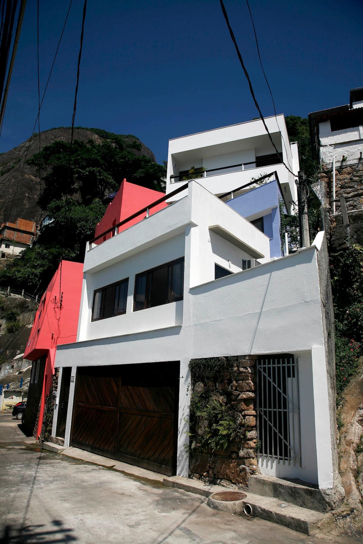 Facade of the hole house