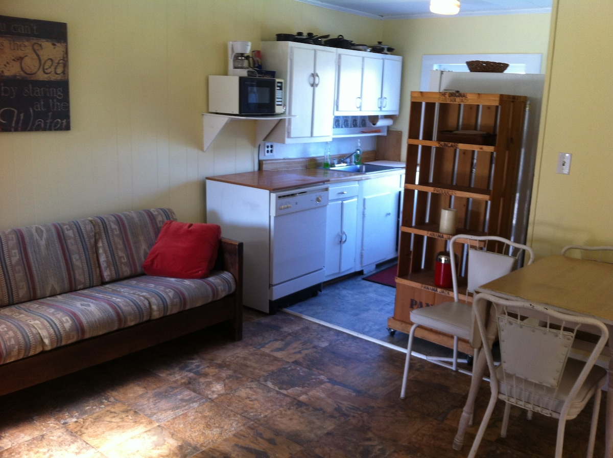 living/dining room and kitchen