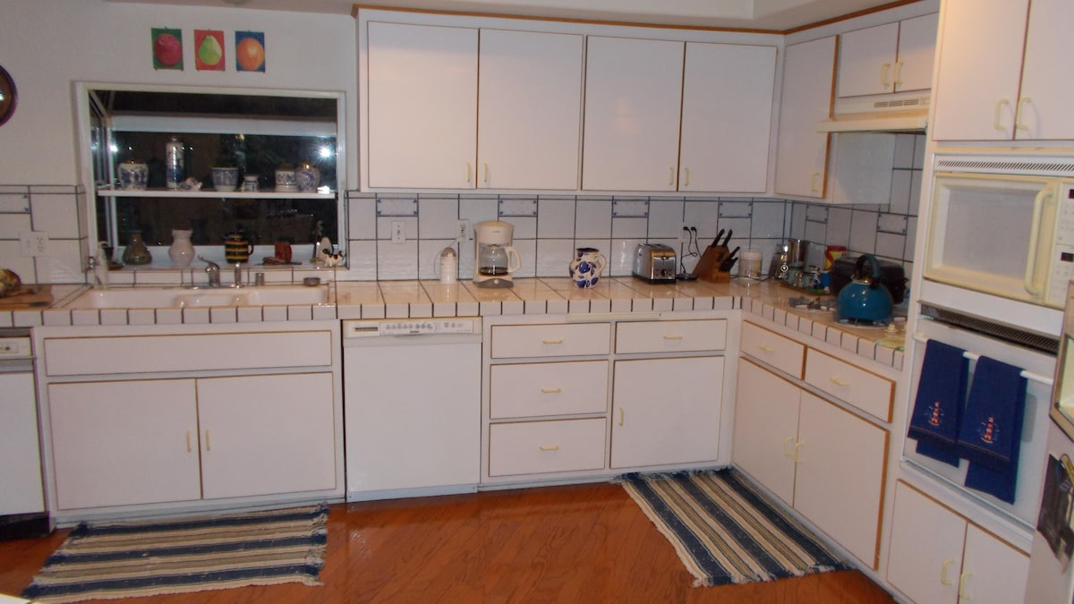 Our kitchen is clean and spacious!