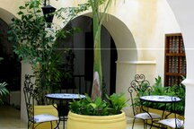 Interior patio - perfect  place to enjoy a delicious breakfast