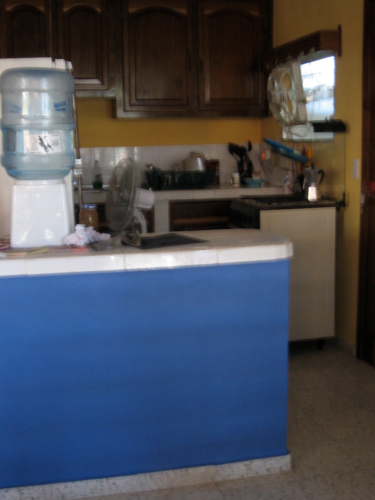 Fully operational kitchen with oven, microwave, fridge that guests are welcome to use