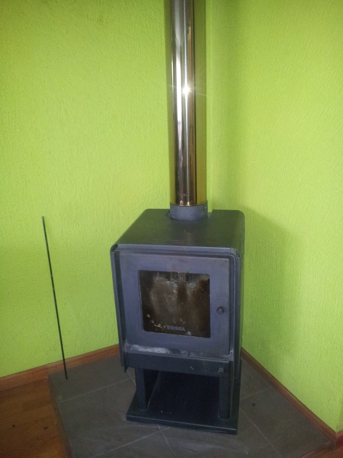 Wood burning stove for winter