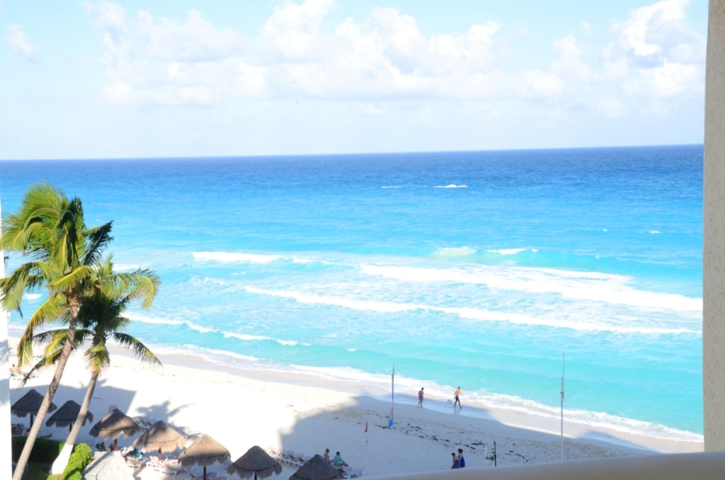 The  turquoise Caribbean from your balcony