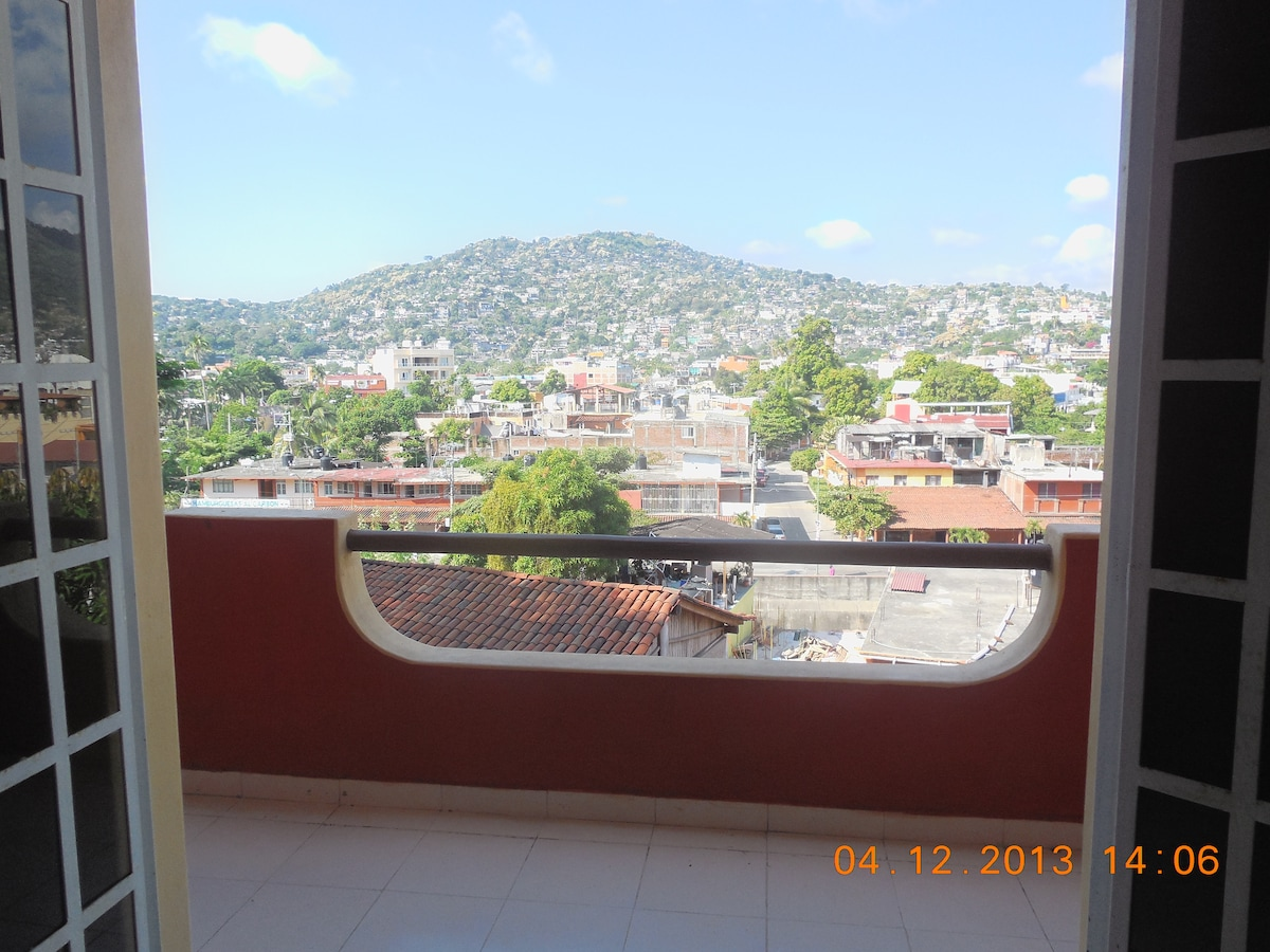 View of Zihuatanejo from the balcony