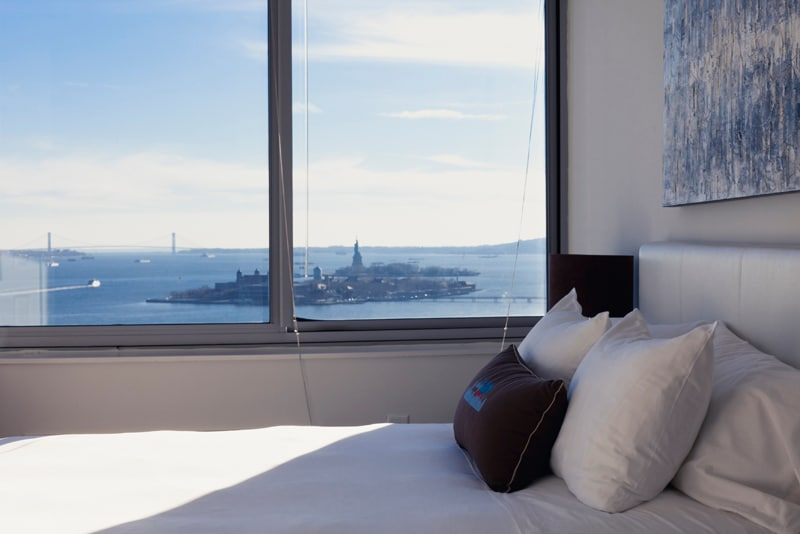 View of the Statue of Liberty from the Master Bedroom