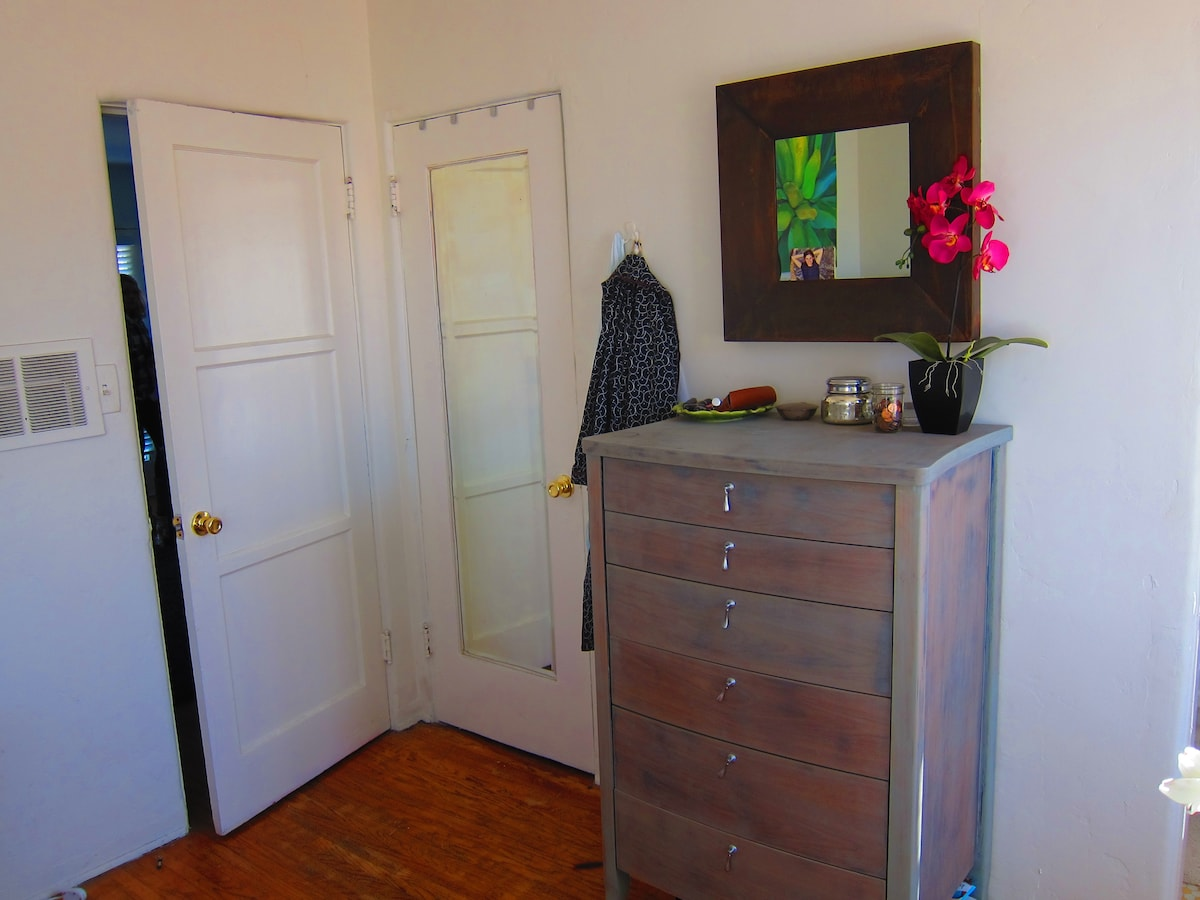 Tall dresser in master suite