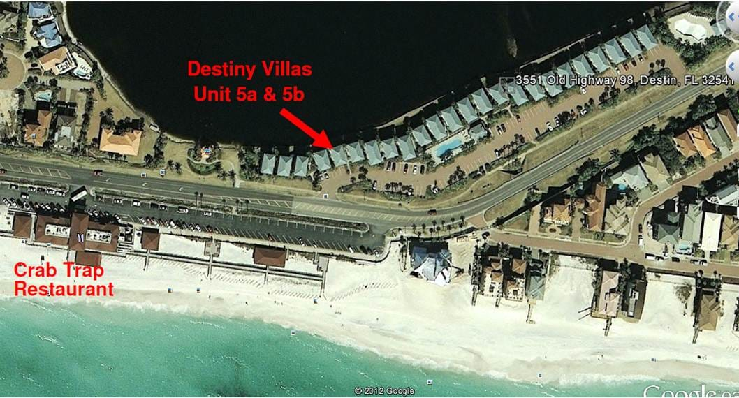 Aerial View showing close proximity to beautiful white sand and aqua blue water - also lake on back side