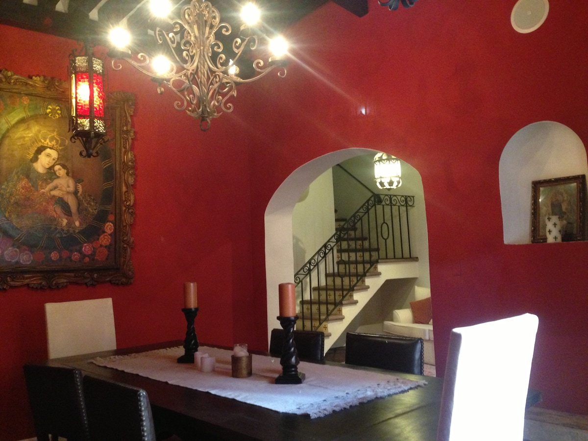 Dining room and entry