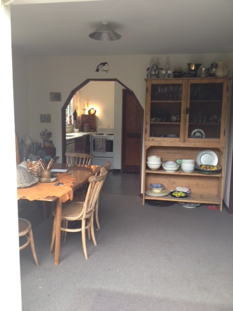 Dining & Kitchen area. Fully equiped kitchen. Dining area to outside garden area.