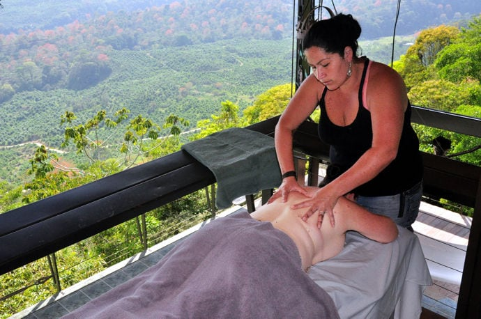 Our masseuse is ready afternoons and evenings to knead your adventure-weary muscles