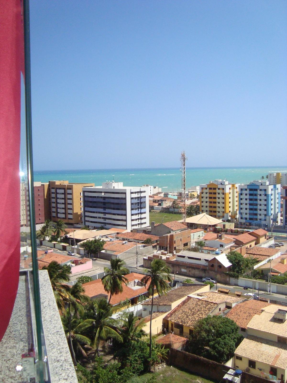 Vista da varanda do apartamento. 11º andar.