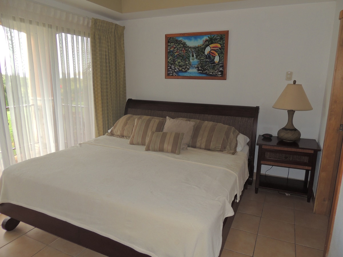 Master bedroom with King bed with private bath