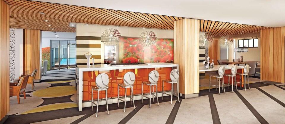 Lounge Area on Amenity Floor