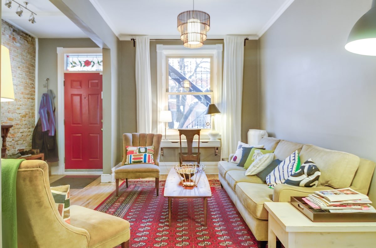 It's a bright, inviting space, perfect for entertaining friends or just sitting back and relaxing.