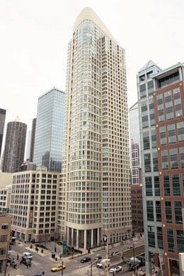 Stunning 48 story high rise building at the SE corner of LaSalle & Kinzie - the heart of River North - dining and entertainment capital of Chicago. A block north of the Chicago River, a few blocks west of Michigan Ave.