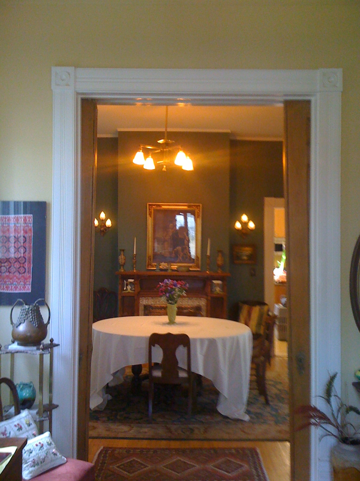 Looking Into the Dining Room From the Hinnan House Entrance