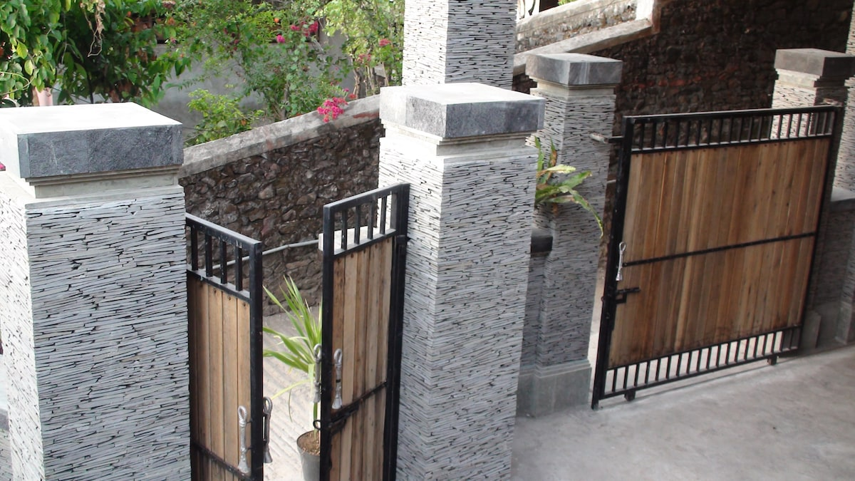 Entry gates to property.