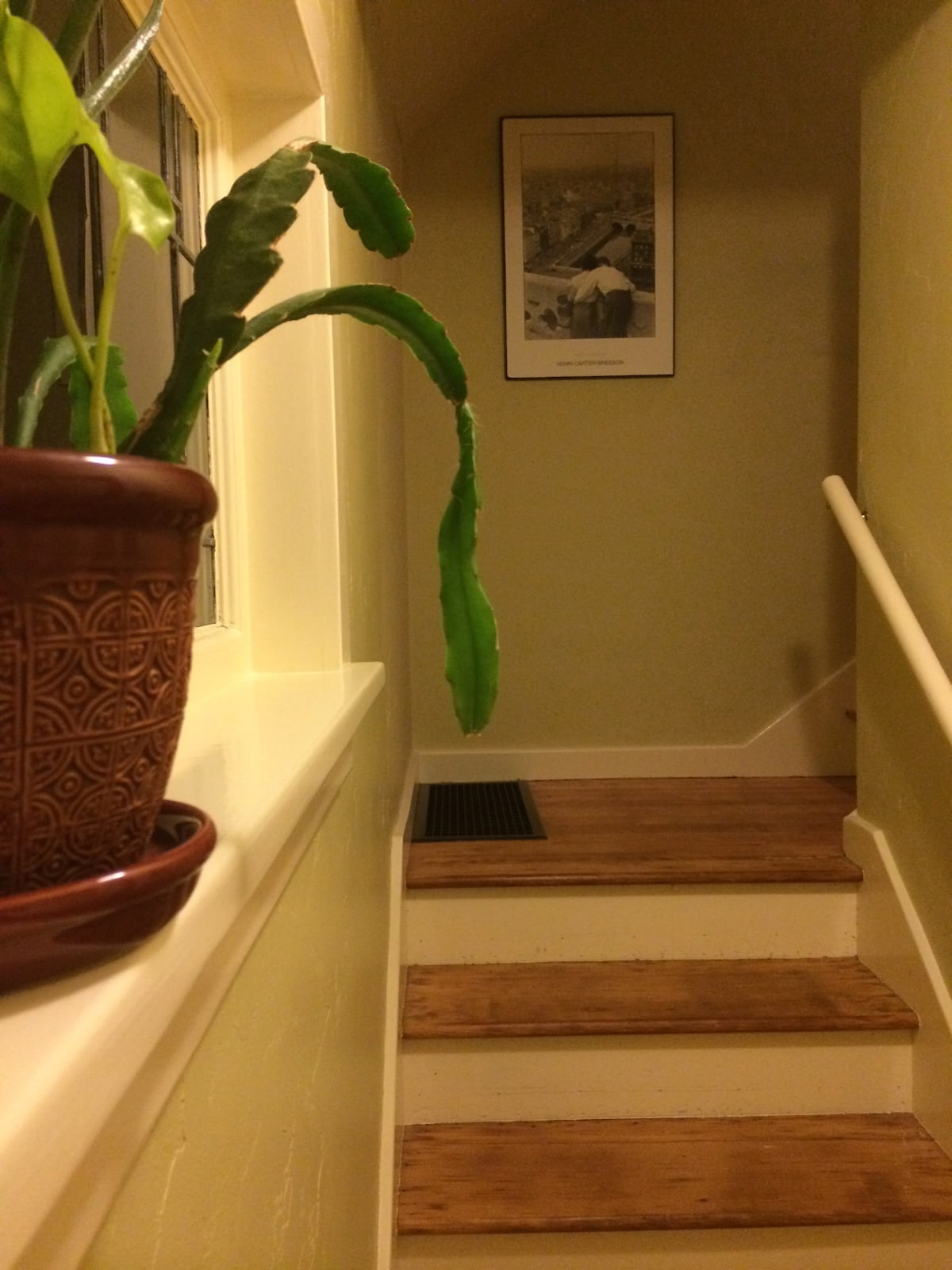 The entry way leading to the upstairs rooms.