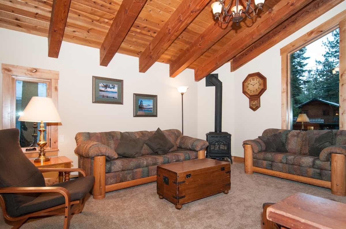 Family Room with gas stove