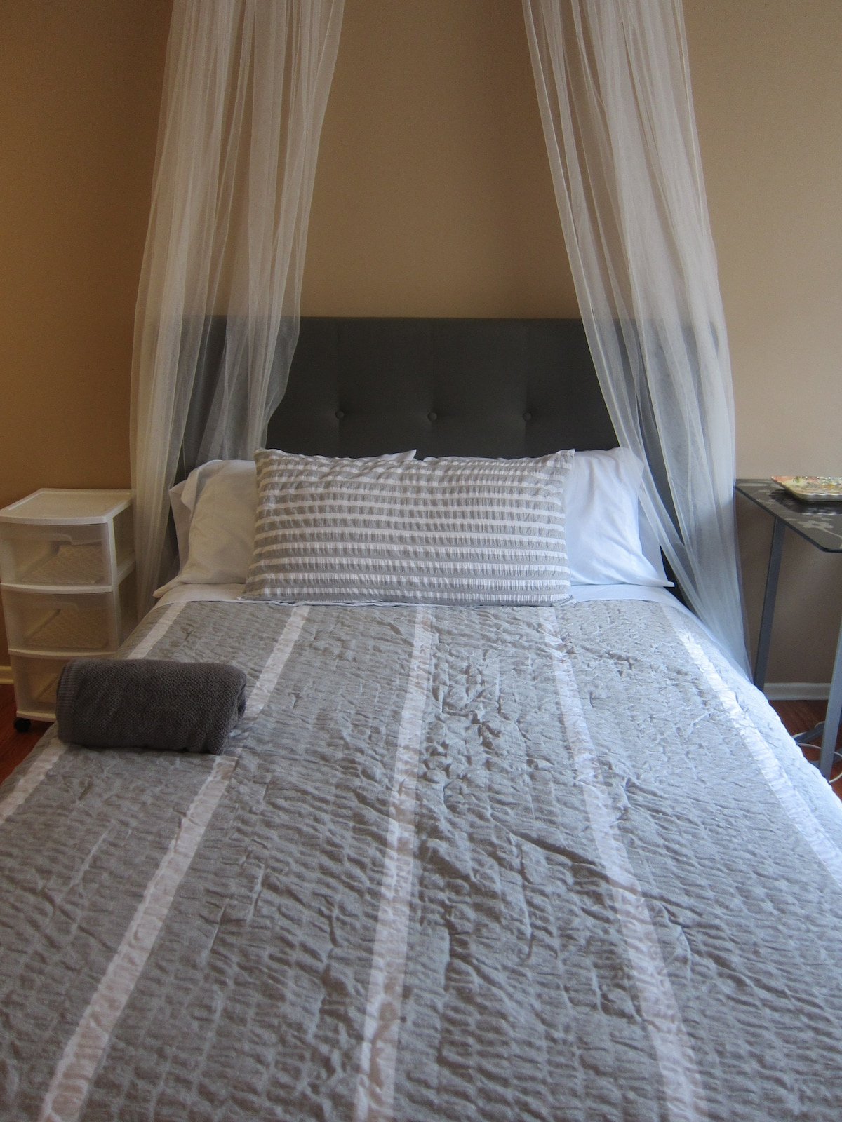 This is the new redone master bedroom