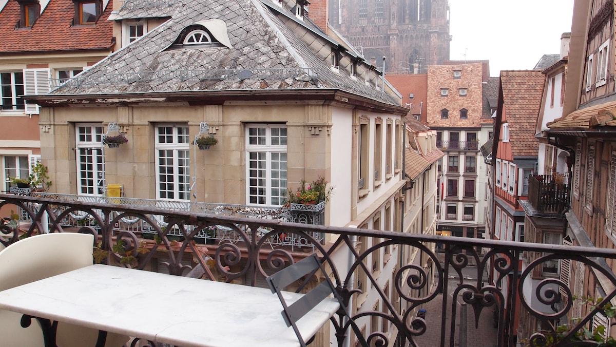 Le balcon : breakfast outside :)