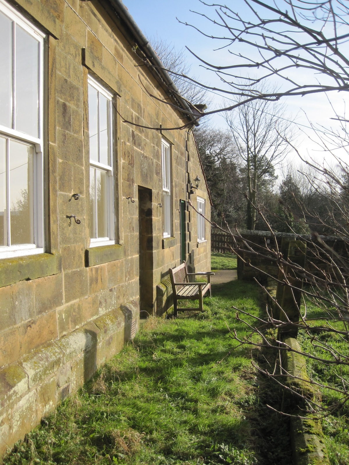 Beautiful tranquil setting with views across the rooftops to the moors