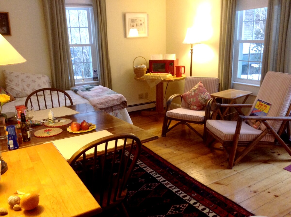 Dining/sitting area with extra twin bed