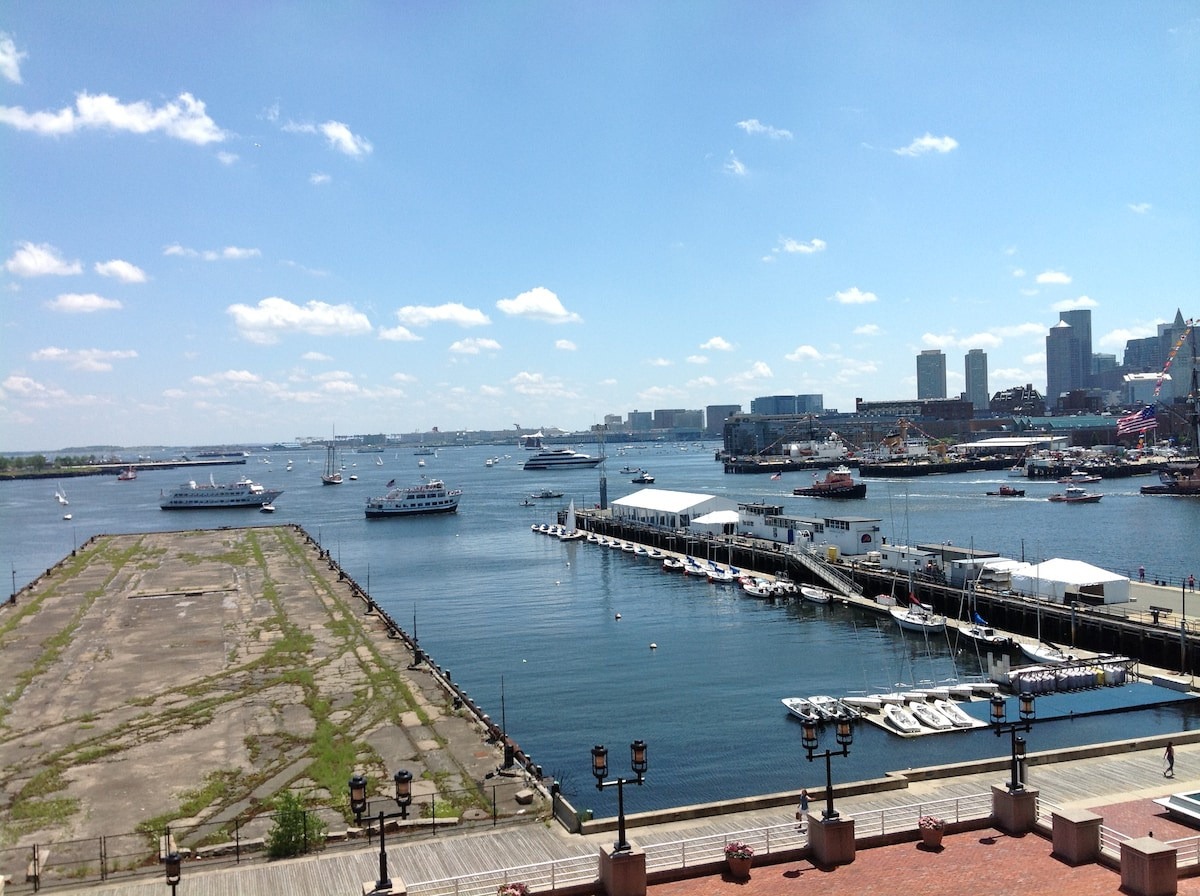 Steps away... Views of the Boston Harbor/Waterfront