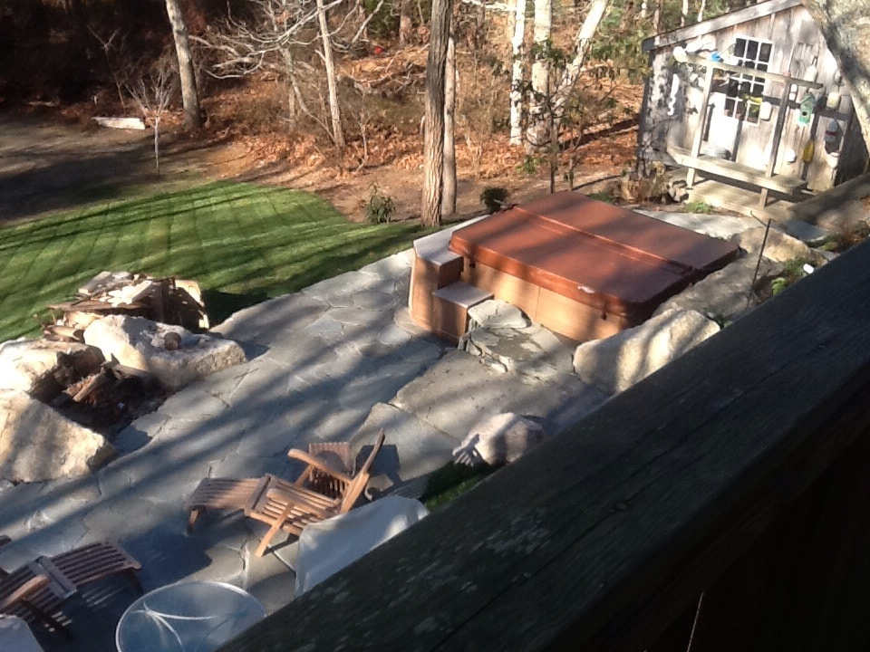 View of patio and hot tub