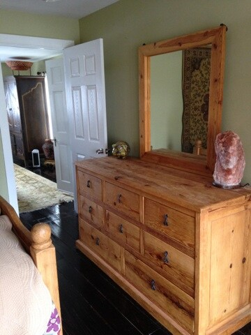 hand carved wood dresser-empty for your use