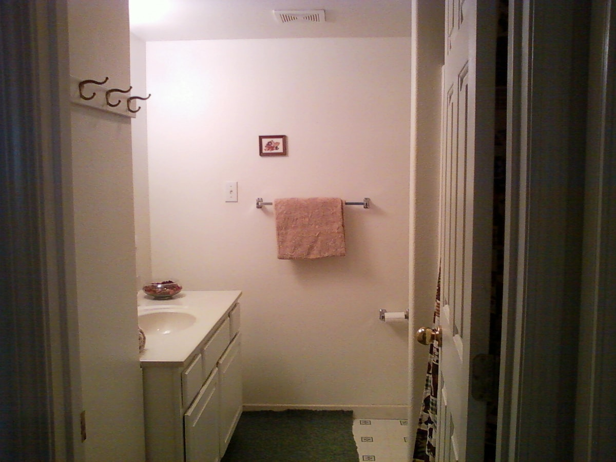 Bathroom right across the hall from your  bedroom.