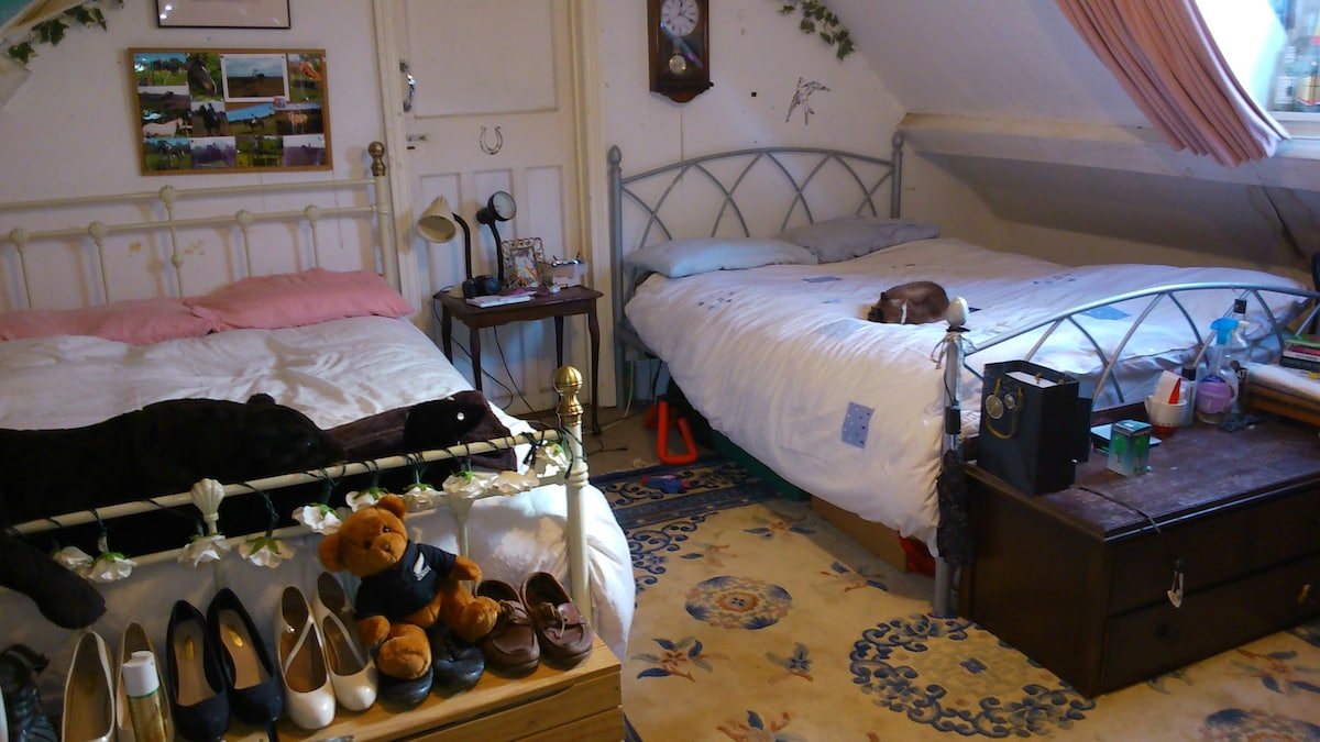 Attic Room with 2 Double Beds