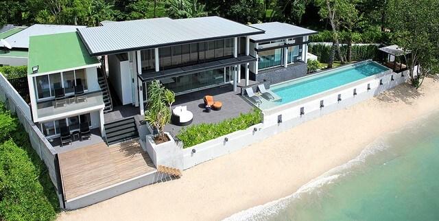 Luxury modern beachfront villa