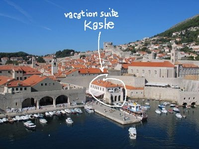 Located in the very center of Dubrovnik - Old Town Port.