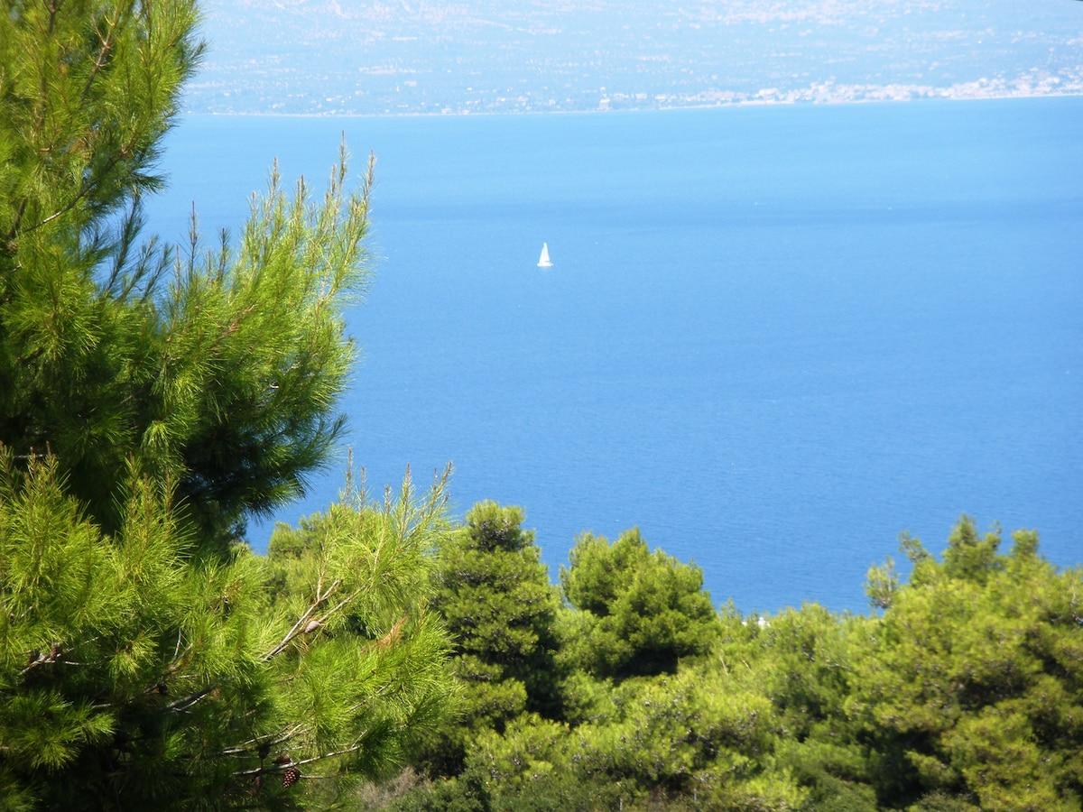 Luxury Villa, panoramic sea view