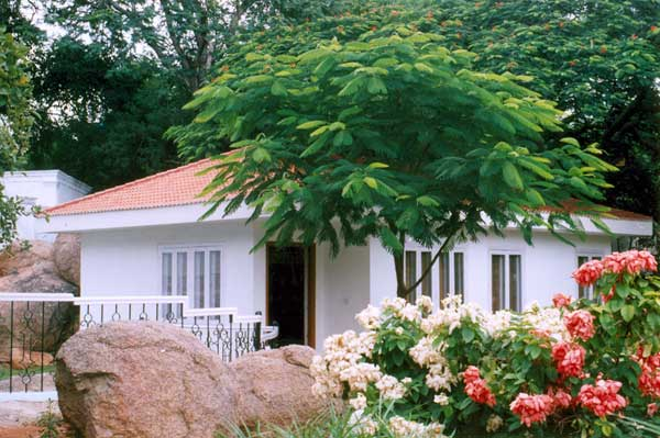 cottage with separate bedroom and living
