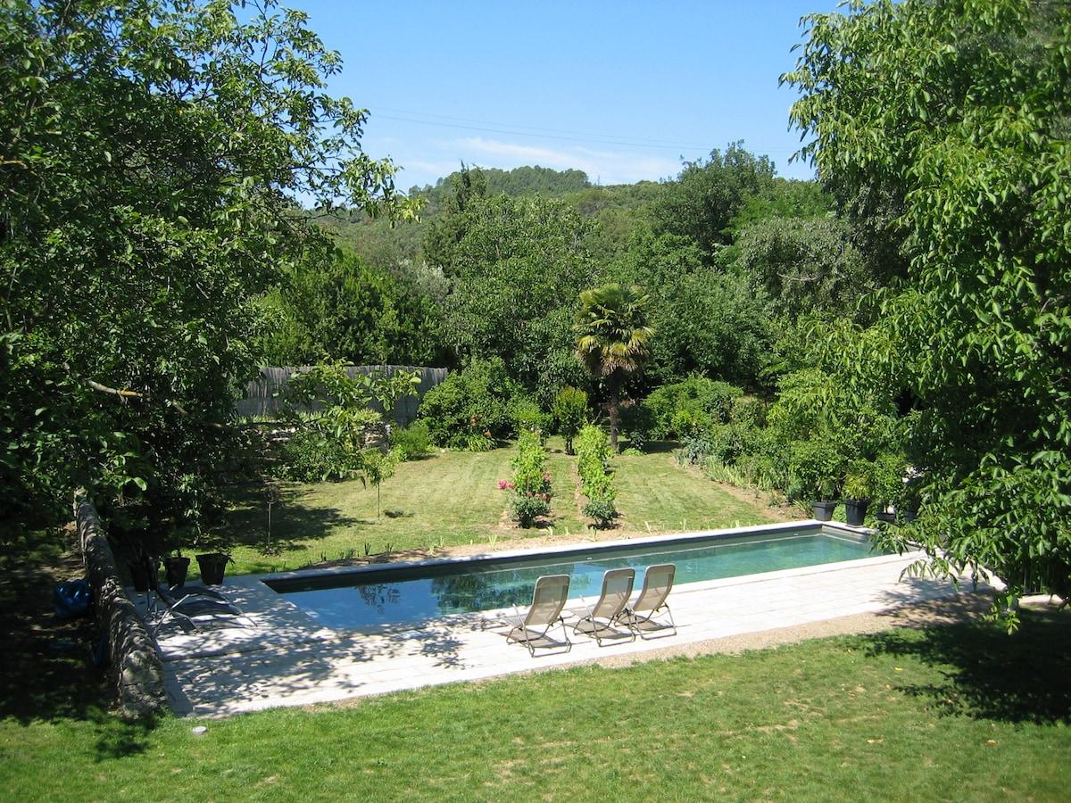 Spacious stone farmhouse with pool