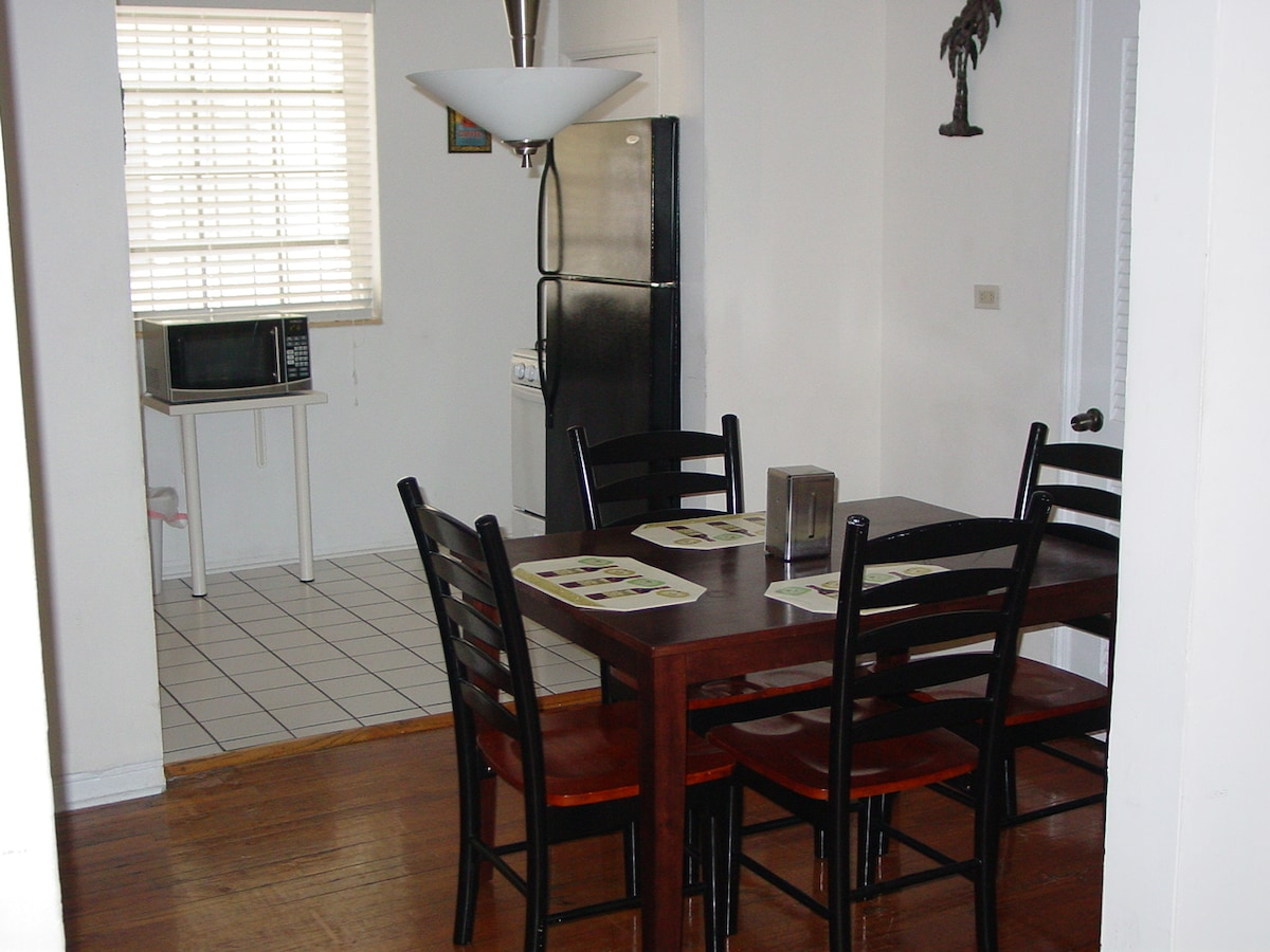 Dining room area  table with 4 chairs