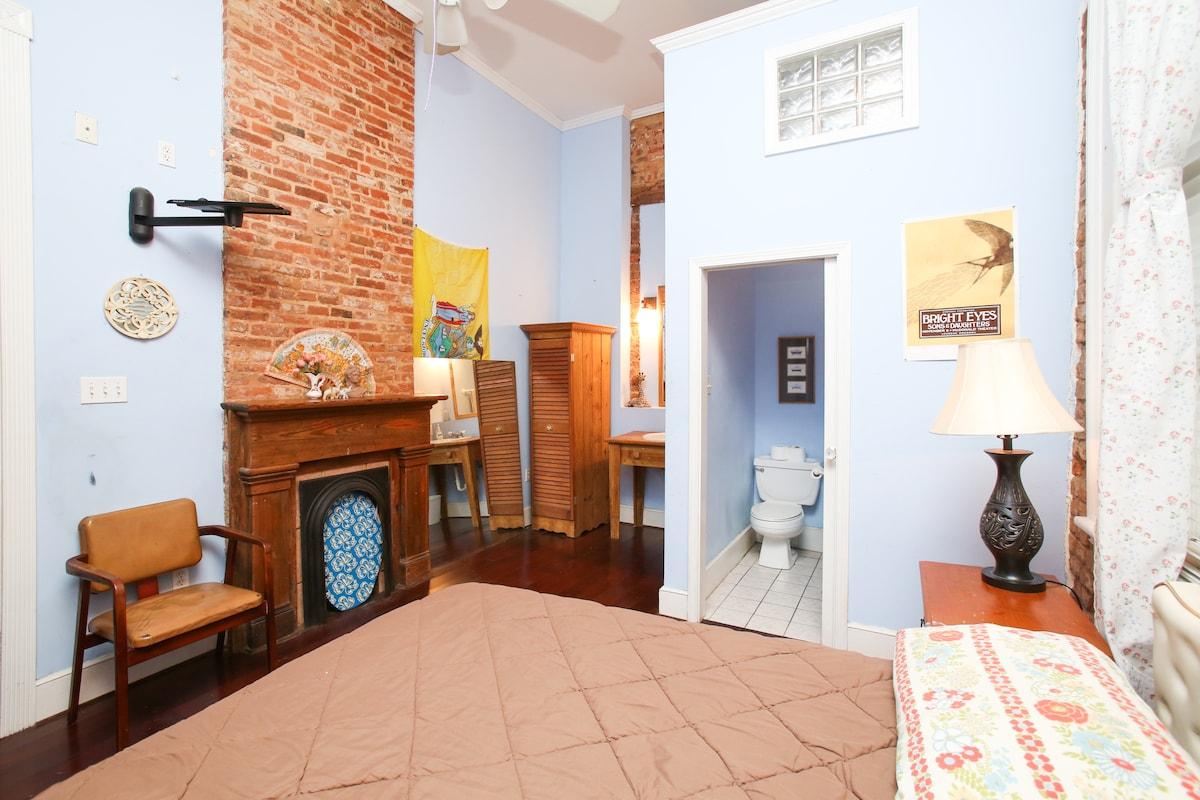 Blue Room w/ Bath in Marigny House