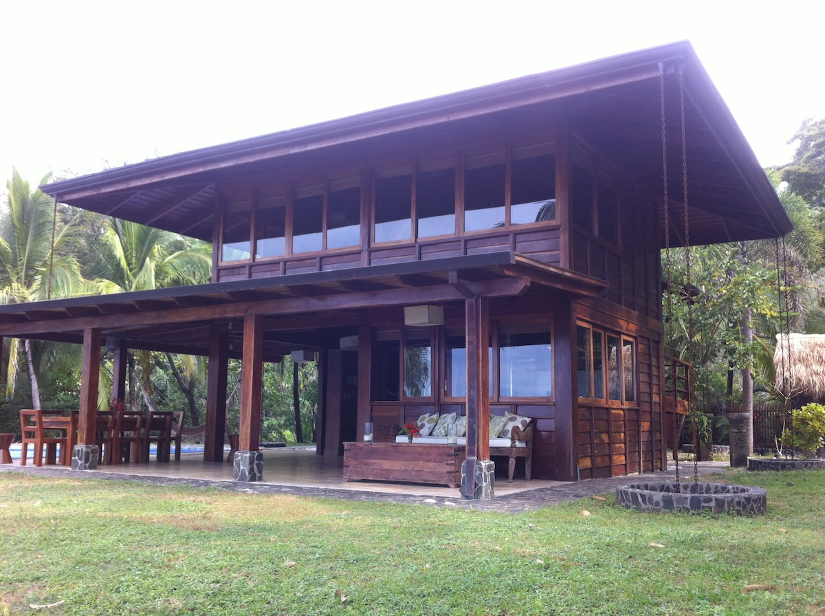 Stylish ocean view wooden house